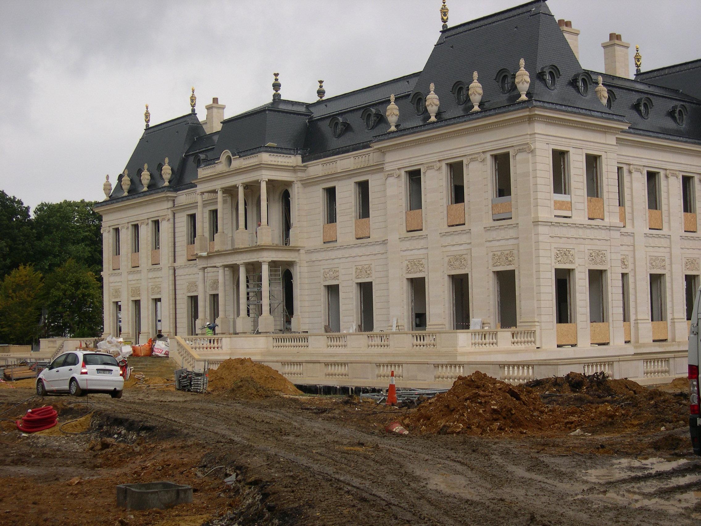 Chateau de Louveciennes fourniture pierre