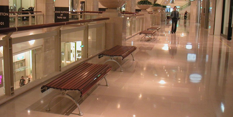 Centre commercial à Taipey - Taïwan- pierre de Comblanchien