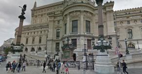 Socle de colonne de l'Opéra Garnier Paris